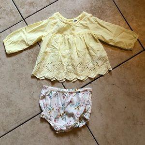 Old Navy Baby Girls Boho Bloomers Set sz 6-12 M